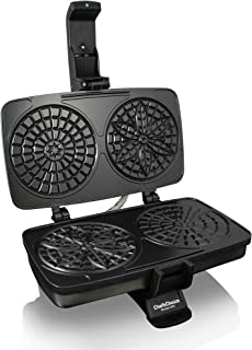 Chef'sChoice 834 PizzellePro Toscano Nonstick Pizzelle Maker Features Baking Indicator Light Consistent Even Heat Press Delicious Pizzelles in Seconds, 2-Slice, Silver