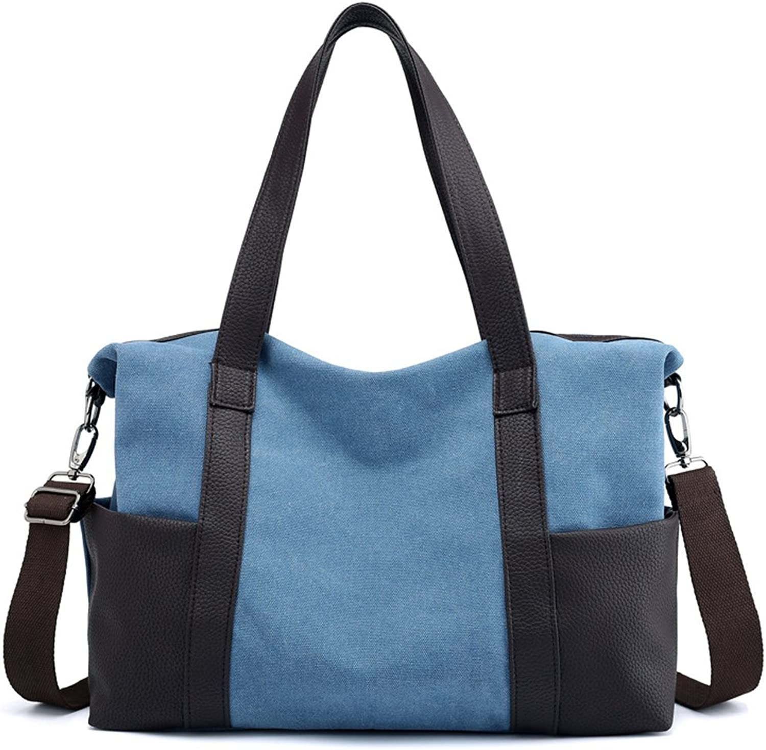 Uwelucky Women's Multipockets Shoulder Bags Fashion Canvas Messenger Bag Tote Bags