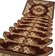 HAIPENG Self Adhesive Stair Treads Carpet Step Rugs Pads Runner Mats Anti Slip Staircase Ottomans Home, Customized, 3 Size...