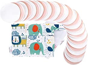 Bamboo Breastfeeding Nursing Pads - Reusable Nursing Pads with Storage & Laundry Bags, Organic Leak-Proof Breast Pads for ...