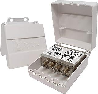 Elettronica Cusano Mix-LTE-VUU - Mezclador de Antena VHF/UHF con Filtro LTE, Mezclador de mástil de 3 entradas: VHF y 2 UH...