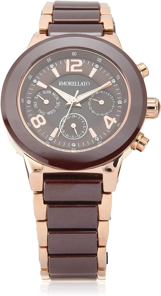 Morellato, orologio al quarzo per donna, multifunzione in acciaio inossidabile e ceramica R0153103514