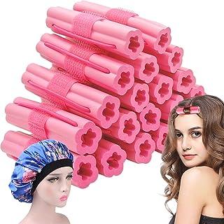 Hair Rollers Night Sleep Foam Hair Curler Rollers Flexible Soft Pillow Hair Rollers DIY Sponge Hair Styling Rollers Tools ...