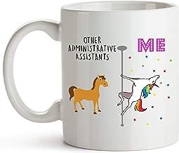 Younique Designs Administrative Assistant Mug, 11 Ounces, White, Unicorn Mug (White)