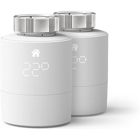 tado° Cabezal Termostático Inteligente - Pack Duo, Accesorio para control de habitaciones múltiples, control de calefacción inteligente, Instálalo tú mismo