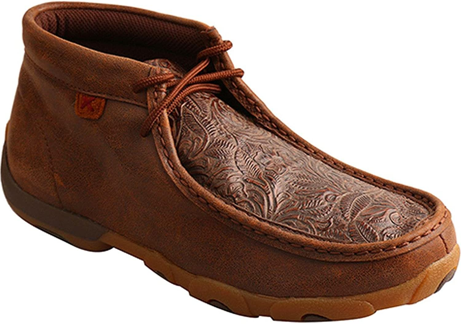 Twisted X WDM0079 Women's Driving Moccasins Chukka, Brown Brown Print