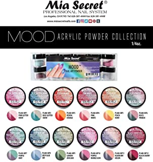 Mia Secret Color Changing Nail Powder MOOD Collection, Set of 12 colors, ¼ oz..