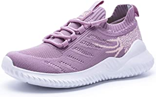 Womens Athletic Walking Shoes - Memory Foam Lightweight Tennis Sports Shoes Gym Jogging Slip On Running Sneakers