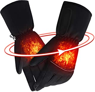 SVPRO Electric Heated Gloves Rechargeable Battery Powered Gloves Men Women Heating Hand Warmer Warm Winter Thermal Mitten Gloves for Cycling, Motorcycling, Fishing, Hunting, Skiing etc