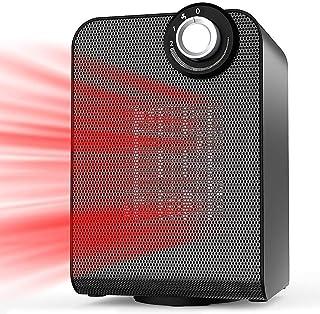 LHZHG Calefactor Portátil Eléctrico, Cerámico 1500W Mini Ventilador de Calefactor de Espacio, 3 Configuraciones de Temperatura, Doble Protección de Seguridad, para Hogar y Oficina