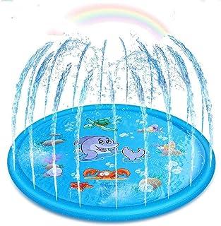Upgraded Sprinkler for Kids, Sprinkler Pad & Splash Play Mat, Splash Pad, 170cm Toddler Water Toys Fun for 1 2 3 4 5 Year ...