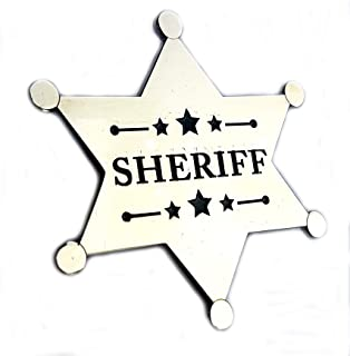 Mainly Metal ™ Pin Badge Super-Size Sceriffo Stella Costume Cosplay (60 mm finitura cromata) Sherrif