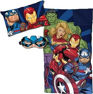 Jay Franco Marvel Avengers Stacked 3 Piece Slumber Set, Blue