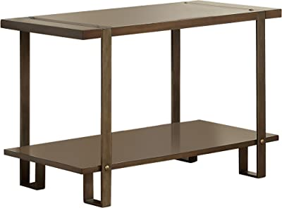Furniture of America Barrett Rustic Sofa Table, One-Size, Dark Oak