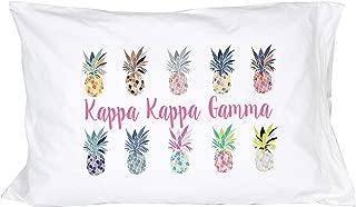 Desert Cactus Kappa Kappa Gamma Sorority Pineapple Pop Art Pillowcase 300 Thread Count 100% Cotton KKG