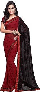 Bollywood Saree For Women Printed Wedding Traditional Indian Sari (238_Red)
