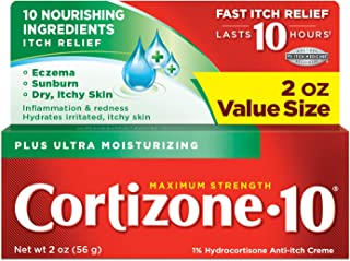 Cortizone-10 Plus Ultra Moisturizing Cream, 2 Ounce, Anti-Itch Cream with Aloe Vera and Vitamin A, Helps Relieve Itchy, Dr...