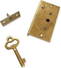 Creative Deco Gold Lock With Key | Brass Box + Trunk Lock + Key | 40 x 22 x 7 mm Our Lockable Boxes