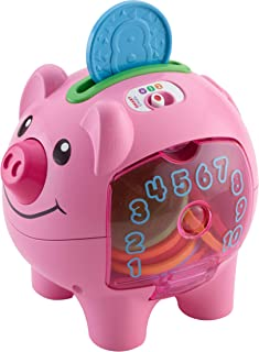 Fisher-Price Laugh & Learn Smart Stages Piggy Bank, Empaque estándar, Estándar, Rosado