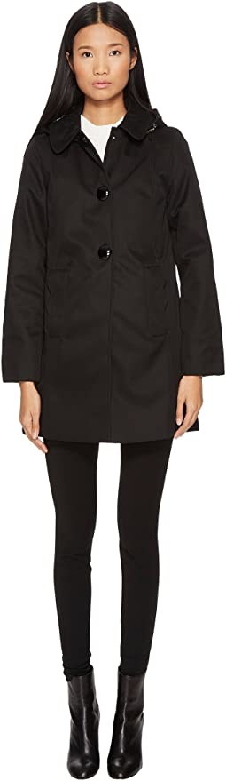 Kate Spade New York - Rain Button Front Hooded Jacket