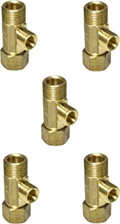 Lead Free Brass Angle Stop Add-A-Tee Valve 3/8