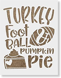 Turkey Football Pie Stencil Template for Walls and Crafts - Reusable Stencils for Painting in Small & Large Sizes