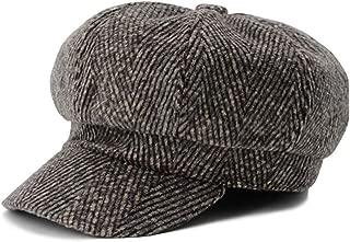 Beret Women WinterFor Women Men Berets Hat Casual British Octagonal Vintage Stripe Warm