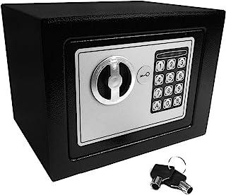 comprar comparacion Caja fuerte de seguridad electrónica con teclado y cerradura para llave, tornillos de anclaje y pilas incluidas
