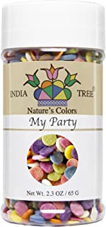 India Tree Nature's Colors My Party Decoratifs Jar, 2.3 Ounce