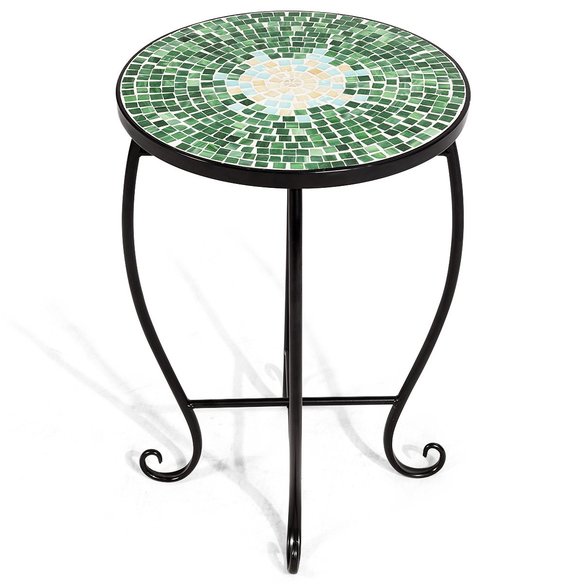 - Amazon.com: Giantex Mosaic Round Side Accent Table Patio Plant