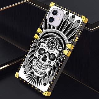 iPhone 11 6.1 Inch 2019 Case Square Cover Nebula Skull Luxury Elegant Soft TPU Design Protective Case