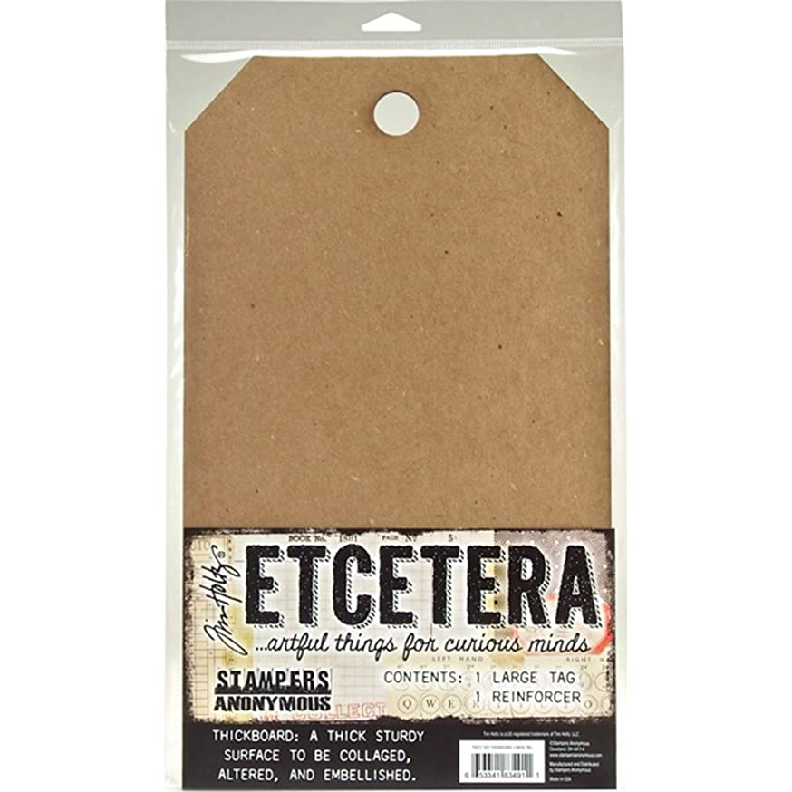 Stampers Anonymous THETC-001 Tim Holtz Etcetera Thickboard Tags, Large