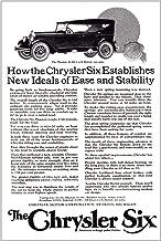 RelicPaper 1924 Chrysler Six: Establishes New Ideals of Ease, Chrysler Print Ad