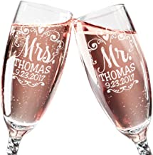 personalised champagne wedding gift set
