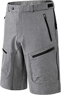 INBIKE Men's Loose-Fit Mountain Bike Shorts Cycling MTB Bike Biking Shorts with Zip Pockets