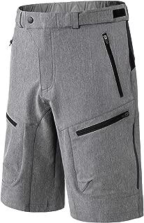 INBIKE Men's Loose-Fit Mountain Bike Shorts Cycling MTB Bike Biking Shorts with Zip Pockets