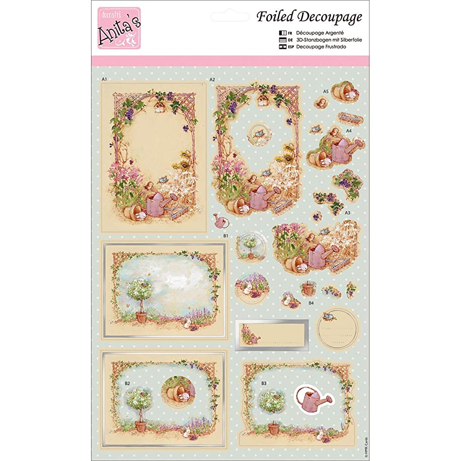 DOCrafts Anita's A4 Foiled Decoupage Sheet, Animal Garden