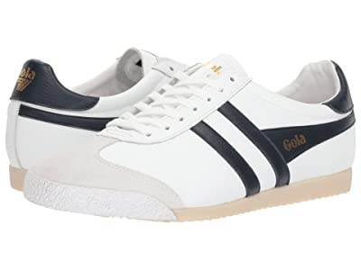 Gola Harrier 50 Leather (White/Navy) Men