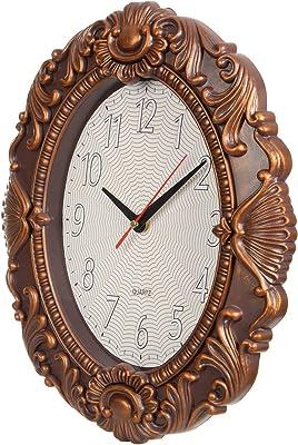 LuvBells™ 14 inch European Vintage Look Retro Simple Mute Wall Clock Bedroom/Living Room Clock Wall Clock (Plastic) (Copper)