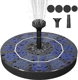 Bird Bath Solar Fountain with 2.5W Pump, Floating Solar Powered Water Bubbler Pump kit for Garden, Birdbath, Pond,Outdoor