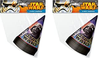 Disney Star Wars Party Cone Hats for 16 Guests by Party Supplies