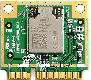 Alfa Network 高効率 Intel AX200 Mini PCIe WiFi6 & BT5カード 2× IPEX4 (MHF4) (AWPCIE-AX200)