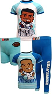 Komar Kids Boys' Dallas Cowboys Ezekiel Elliott and Dak Prescott Pajamas