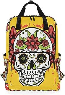 Montoj Mochila de viaje mexicana con diseño de calavera
