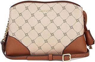 حقيبة طويلة تمر بالجسم بروكلين جيت للنساء من ناين ويست - كاكي/كونياك