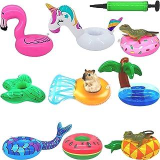 KUDES 9 Pack Bearded Dragon Bathe Float Bathtub Toys + 1Inflatable Needle, Lizard Swimming Toys with Enjoy The Bath Time ...