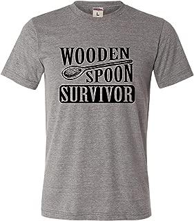 Adult Wooden Spoon Survivor Funny Triblend T-Shirt