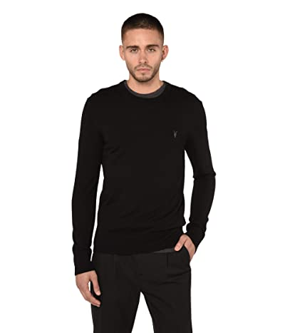 AllSaints Mode Merino Crew Sweater (Black) Men