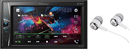 """$149 Get Pioneer 6.2"""" Double DIN VGA Touchscreen WebLink, Bluetooth USB MP3 Aux Input, In-Dash Multi-Color Illumination, Android Smartphone Compatibility Digital Media Receiver/Free ALPHASONIK Earbuds"""