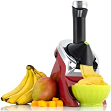 Yonanas 988RD Deluxe Vegan Non-Dairy Frozen Fruit Soft Serve Dessert Maker BPA Free, Includes 75 Recipes, 200 Watts, Red